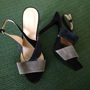 Black Gray Heels-NEW